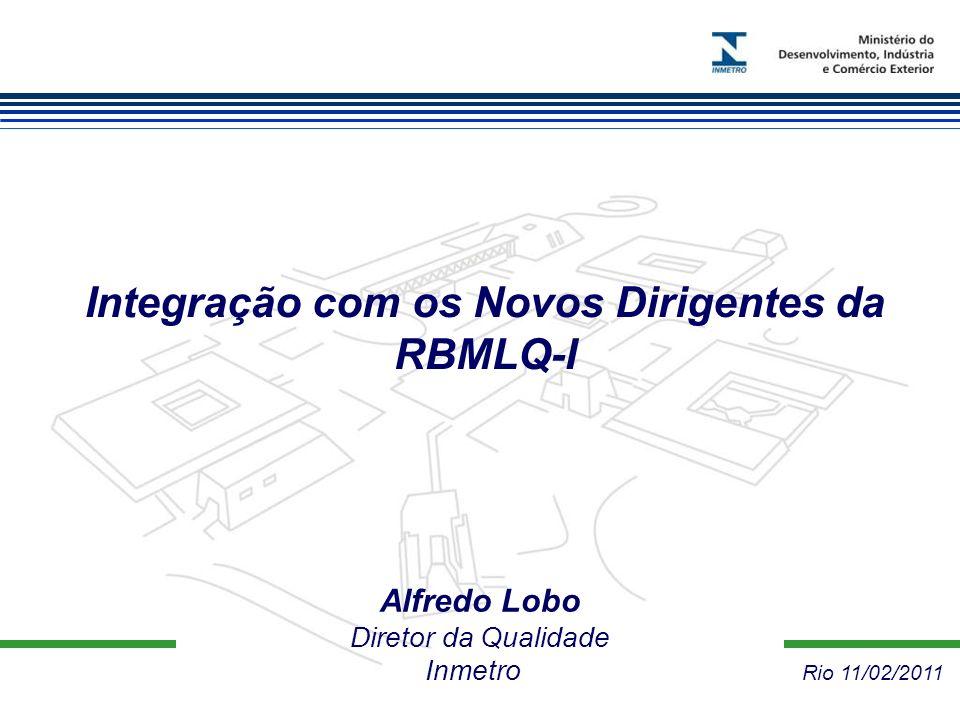 Integração com os Novos Dirigentes da RBMLQ-I Alfredo Lobo Diretor da Qualidade Inmetro Rio 11/02/2011