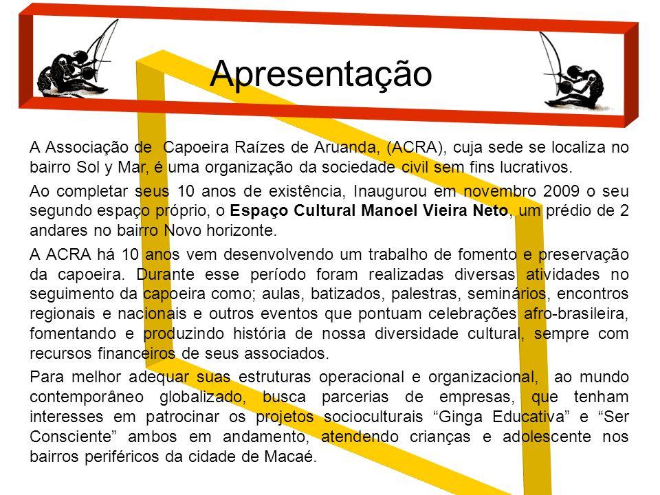 A Associação de Capoeira Raízes de Aruanda, (ACRA), cuja sede se localiza no bairro Sol y Mar, é uma organização da sociedade civil sem fins lucrativo