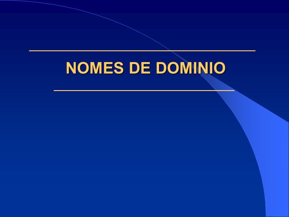 NOMES DE DOMINIO