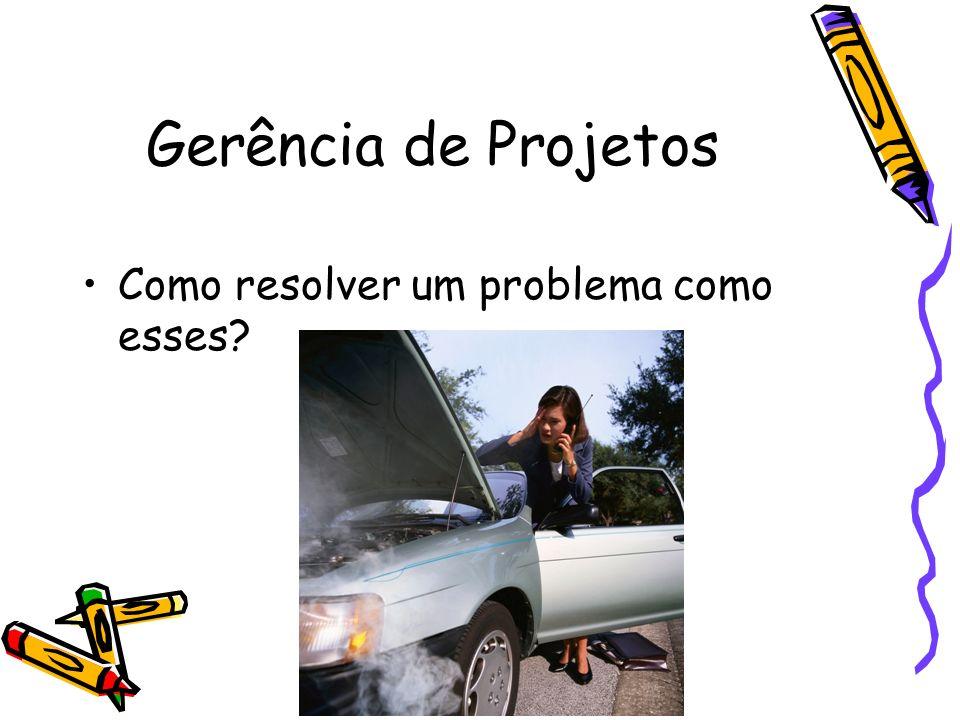 Gerência de Projetos Como resolver um problema como esses?