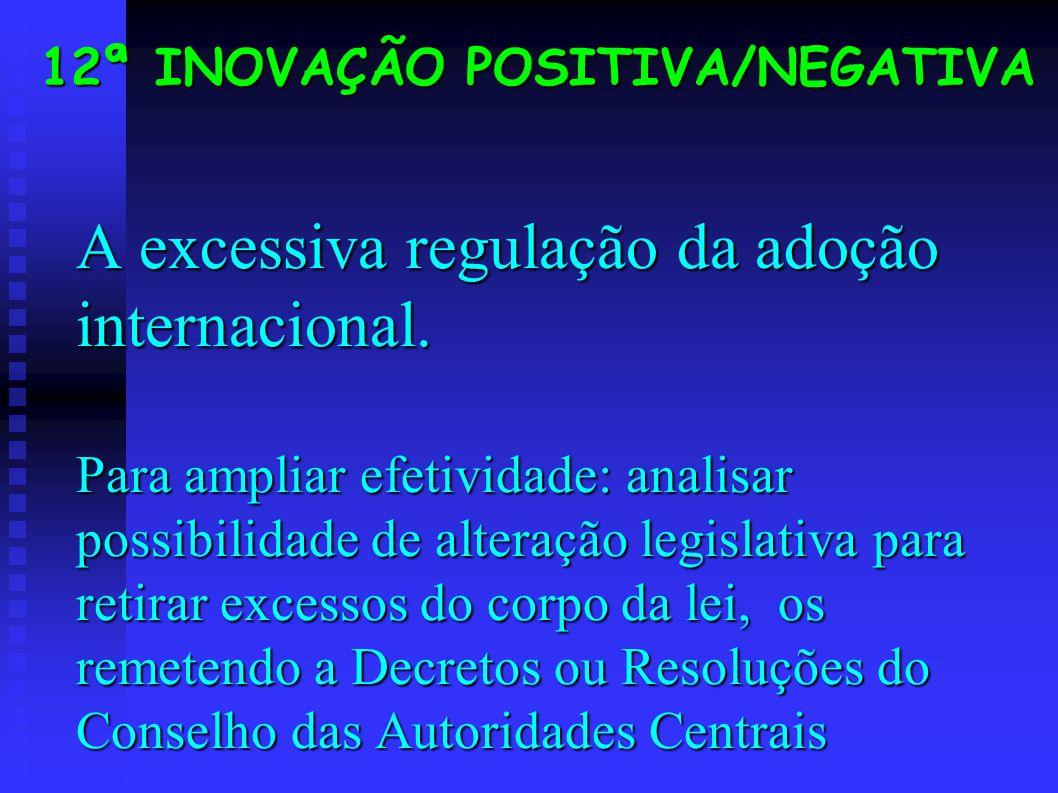 A excessiva regulação da adoção internacional.