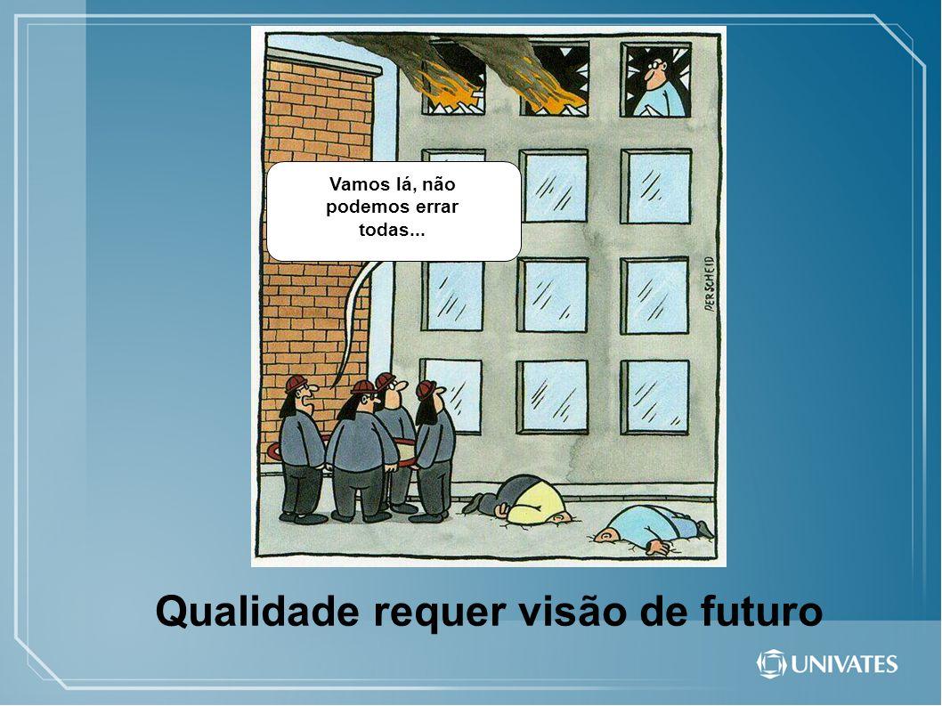 Qualidade requer visão de futuro Come on! It cant go wrong every time... Vamos lá, não podemos errar todas...