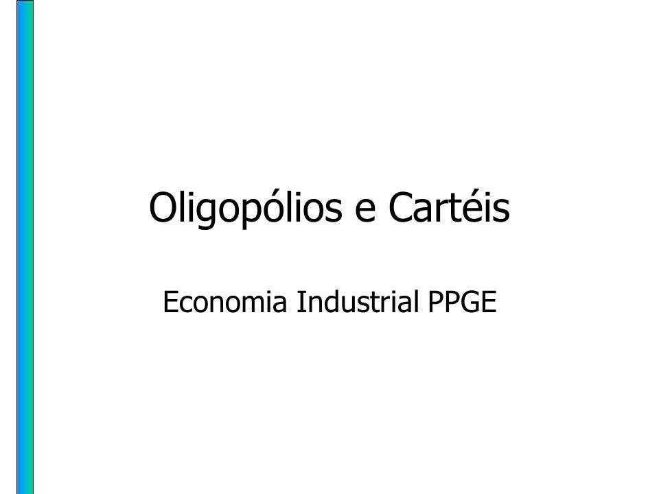 HH PPGE - UFRGS 23 Fatores que facilitam a formação de cartel 3Baixo custo de organização: –Pesquisa sobre a importância da concentração setorial mostra que, de todos os casos estudados, o grau médio de concentração (C4) atingiu 67%.