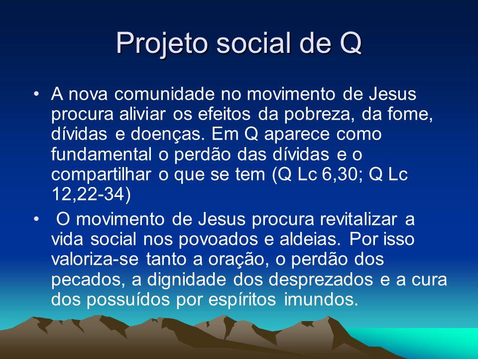 Projeto social de Q A nova comunidade no movimento de Jesus procura aliviar os efeitos da pobreza, da fome, dívidas e doenças.
