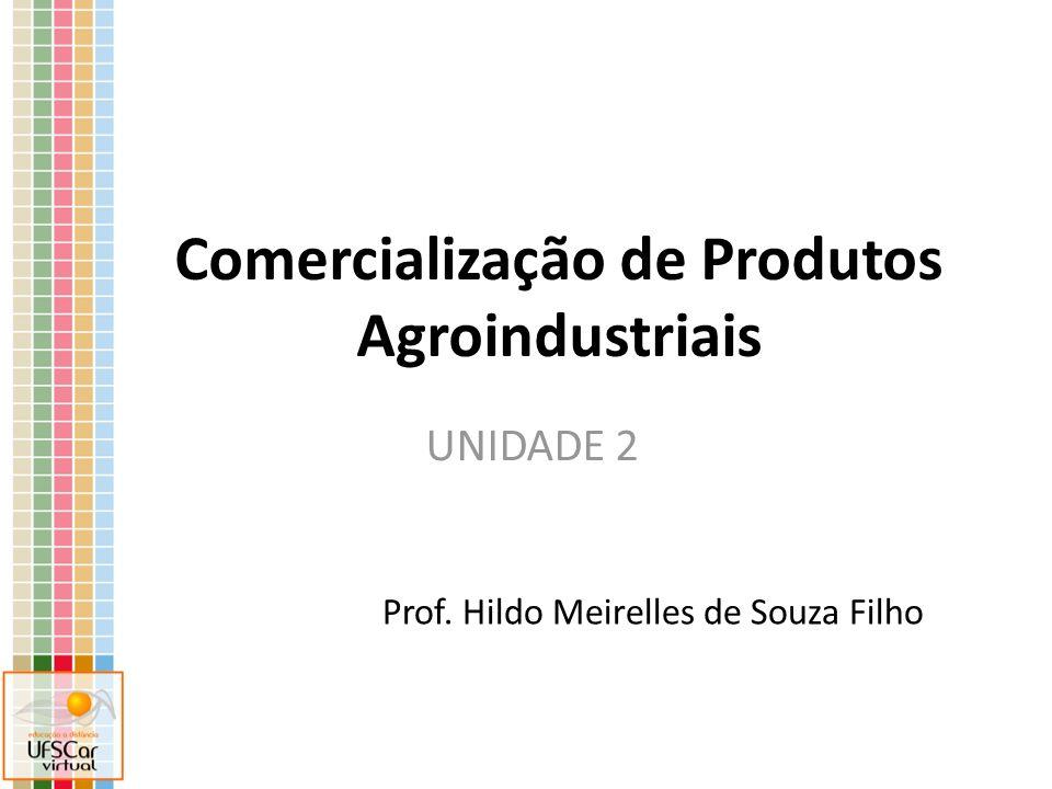 Comercialização de Produtos Agroindustriais Prof. Hildo Meirelles de Souza Filho UNIDADE 2