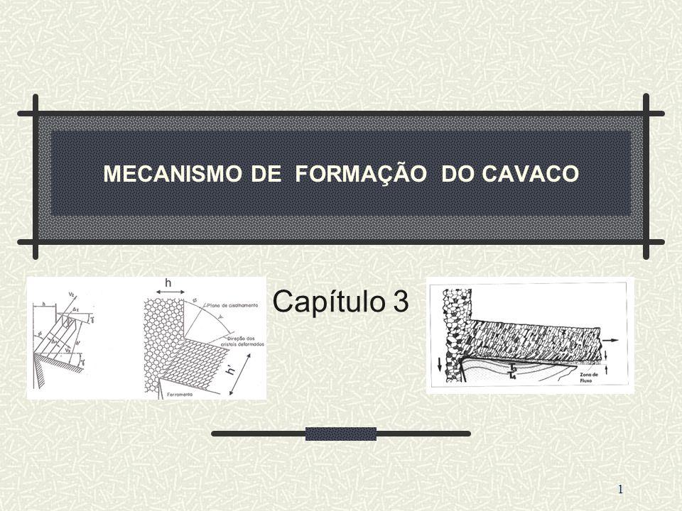 MECANISMO DE FORMAÇÃO DO CAVACO Capítulo 3 1