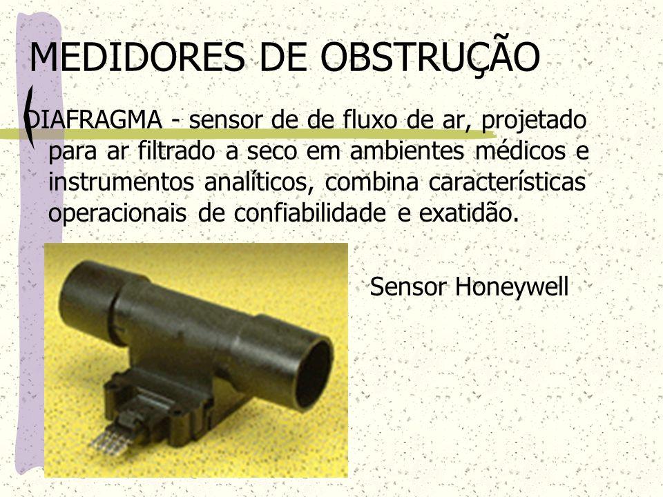 MEDIDORES DE OBSTRUÇÃO DIAFRAGMA - sensor de de fluxo de ar, projetado para ar filtrado a seco em ambientes médicos e instrumentos analíticos, combina