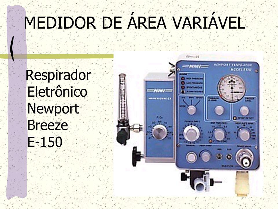 MEDIDOR DE ÁREA VARIÁVEL Respirador Eletrônico Newport Breeze E-150