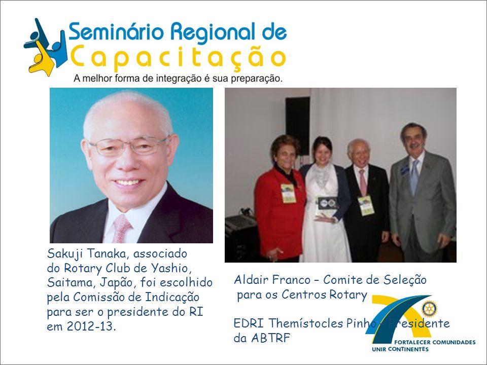 Sakuji Tanaka, associado do Rotary Club de Yashio, Saitama, Japão, foi escolhido pela Comissão de Indicação para ser o presidente do RI em 2012-13. Al