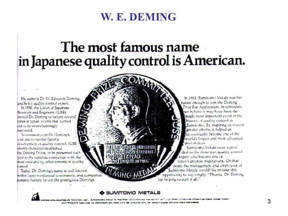 3 W.E. DEMING