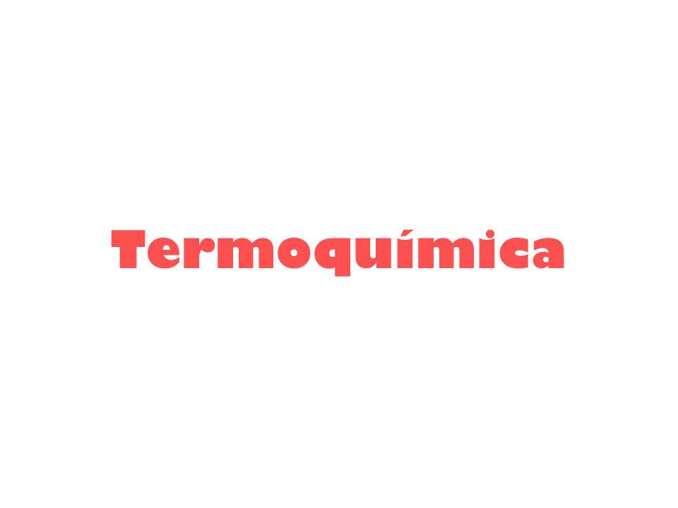 Termoquímica estuda a liberação ou absorção de calor em reações químicas ou em transformações de substâncias como dissolução, mudanças de estado físico,...