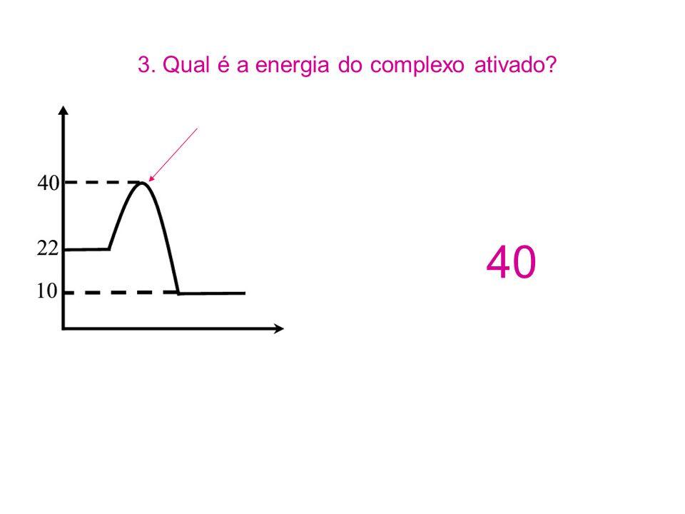3. Qual é a energia do complexo ativado? 40