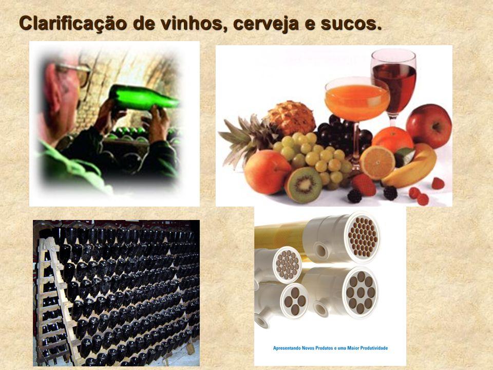 9 Clarificação de vinhos, cerveja e sucos.