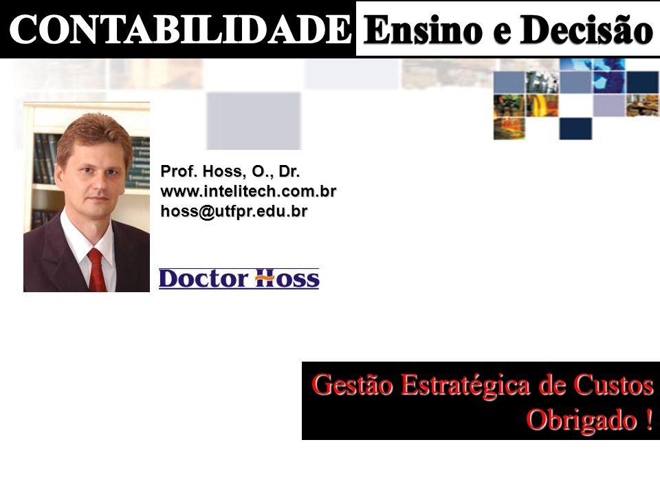 Prof. Hoss, O., Dr. www.intelitech.com.brhoss@utfpr.edu.br Gestão Estratégica de Custos Obrigado !