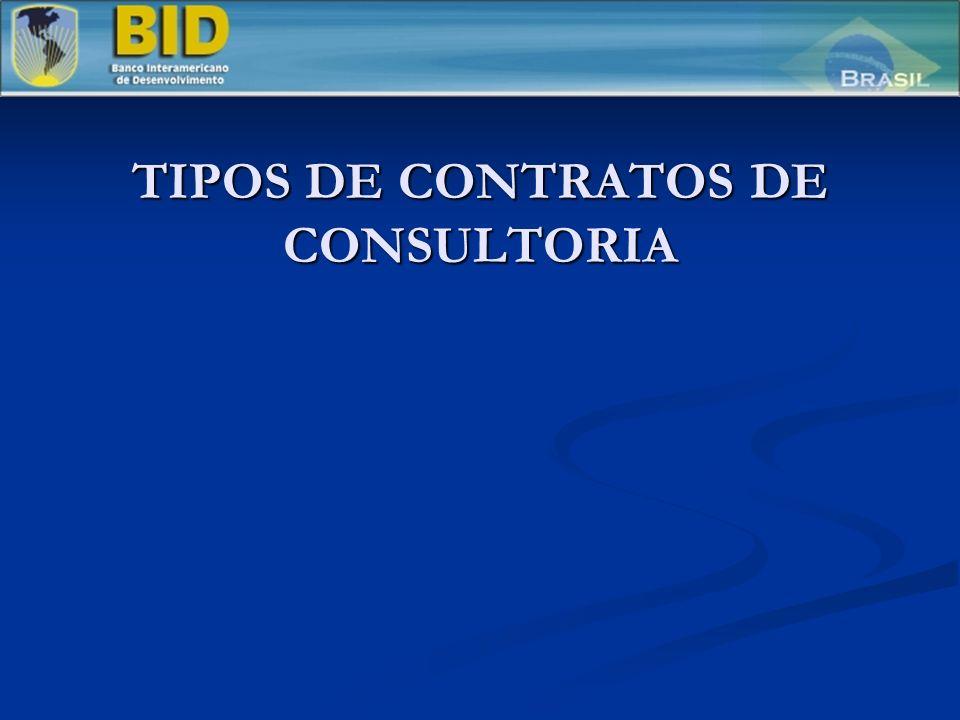 TIPOS DE CONTRATOS DE CONSULTORIA