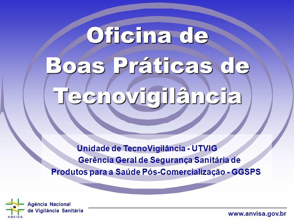 Agência Nacional de Vigilância Sanitária www.anvisa.gov.br World Wide Web Estudos Clínicos de efeito e segurança Relatos de Efeitos Adversos Avaliaçõe