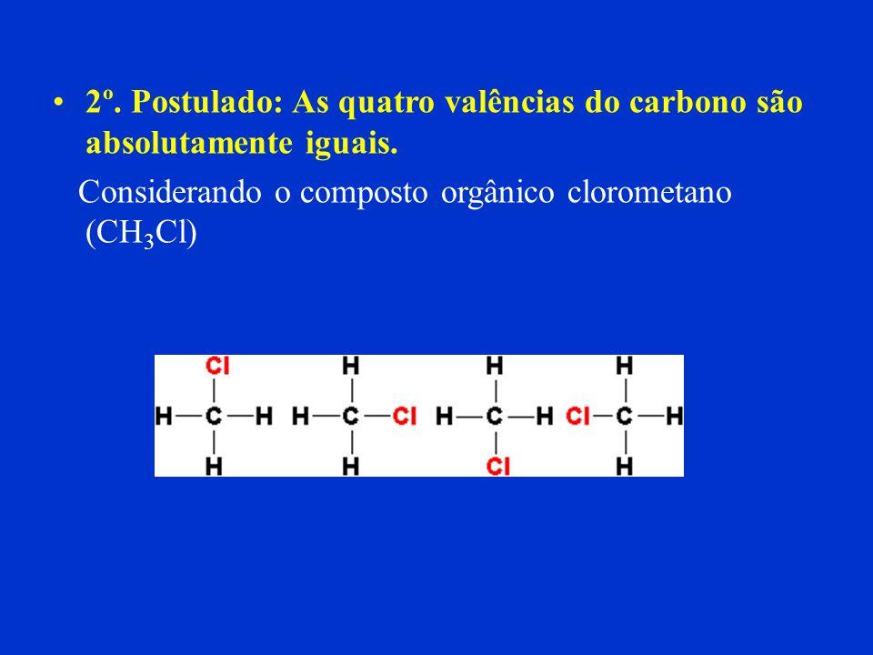 Tetravalência Significa que o Carbono pode compartilhar quatro elétrons com outros átomos, de modo a completar o octeto, e assim se estabilizar. Exemp