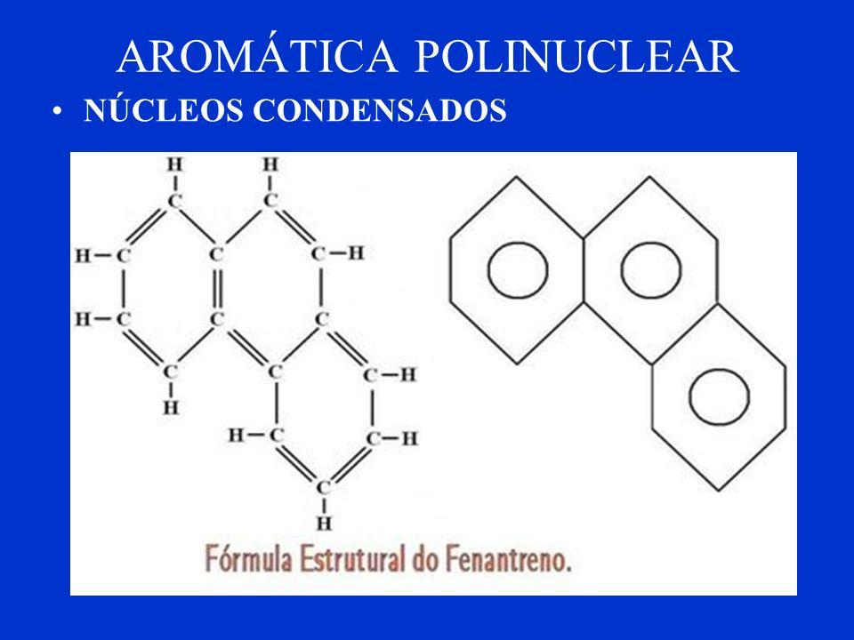 Cadeias Fechadas ou Cíclicas AROMÁTICA MONONUCLEARPOLINUCLEAR