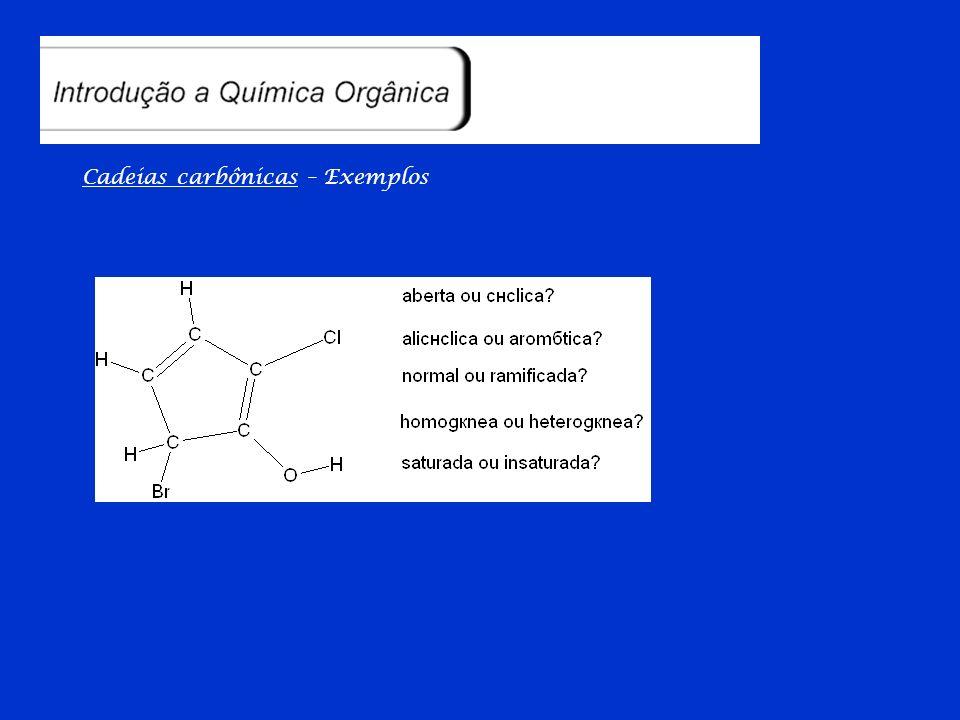 Cadeias carbônicas – Classificação em resumo