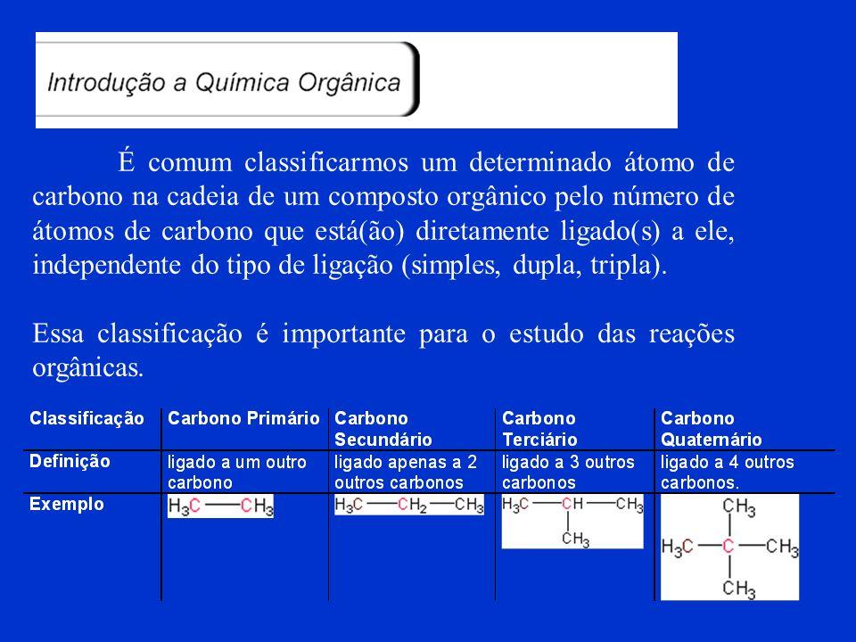 EXEMPLO Classificação de cadeias carbônicas. Fechada (cíclica) Aromática Polinuclear isolado
