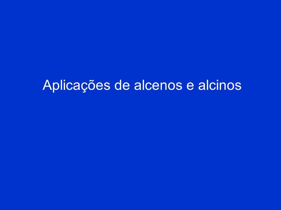 Nomenclatura IUPAC para Alcenos e Alcinos 4. No caso dos cicloalcenos, a numeração é feita de tal modo que os átomos de carbono da ligação dupla fique