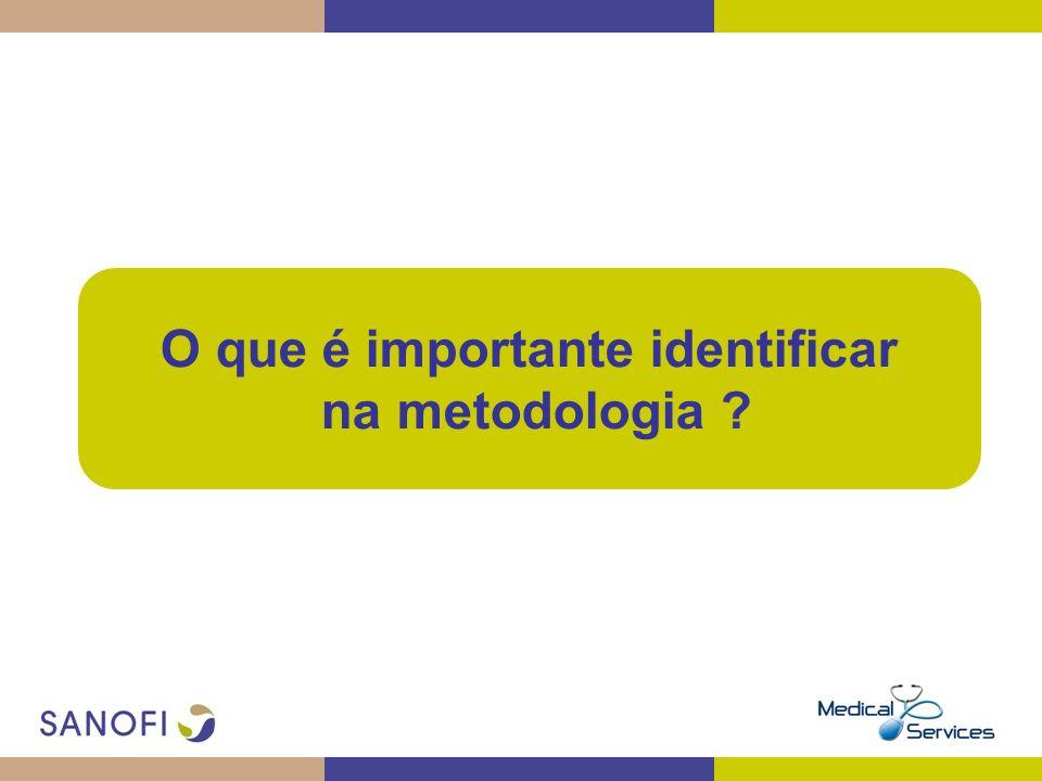O que é importante identificar na metodologia ?