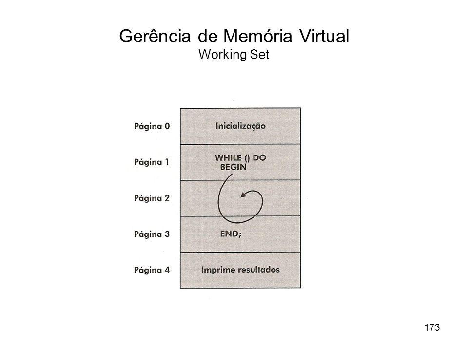 Gerência de Memória Virtual Working Set 173