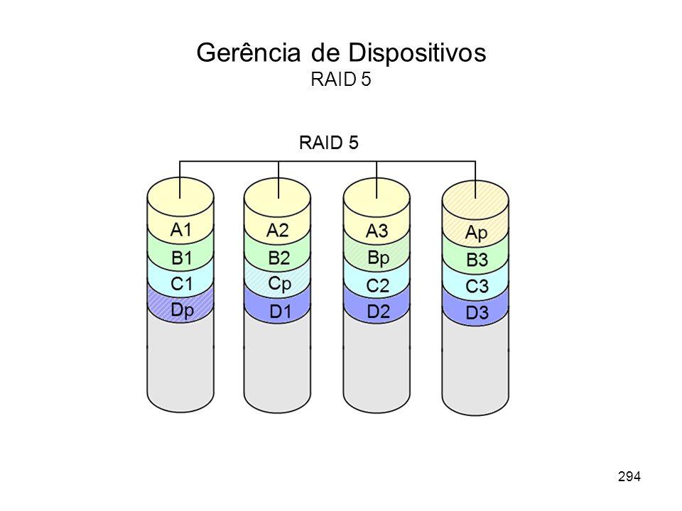 Gerência de Dispositivos RAID 5 294