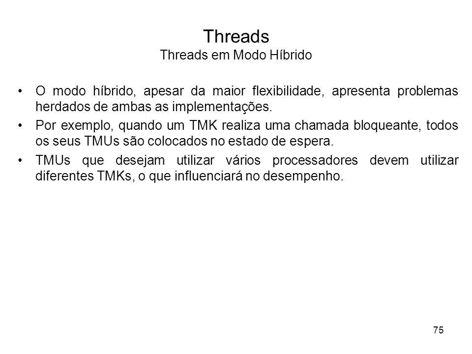 O modo híbrido, apesar da maior flexibilidade, apresenta problemas herdados de ambas as implementações. Por exemplo, quando um TMK realiza uma chamada