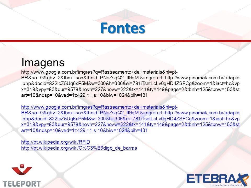 Fontes Fontes Imagens http://www.google.com.br/imgres?q=Rastreamento+de+materiais&hl=pt- BR&sa=G&gbv=2&tbm=isch&tbnid=PNcZsqQ2_ft9qM:&imgrefurl=http:/