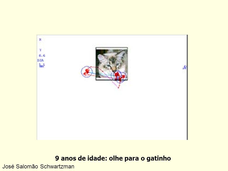 9 anos de idade: olhe para o gatinho José Salomão Schwartzman