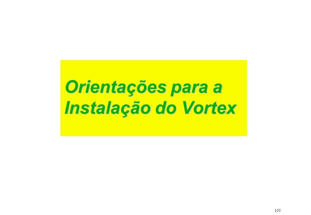 100 Orientações para a Instalação do Vortex