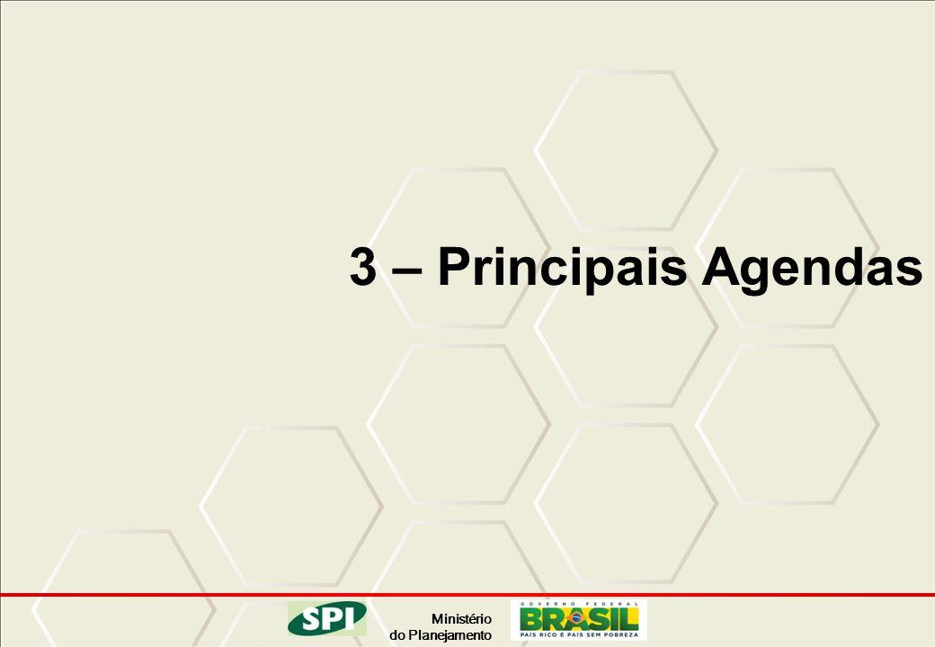 Ministério do Planejamento 3 – Principais Agendas