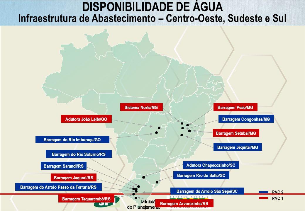 Ministério do Planejamento Barragem Jequitaí/MG Barragem Rio do Salto/SC Barragem Congonhas/MG Barragem Peão/MGSistema Norte/MG Barragem Setúbal/MG Ad