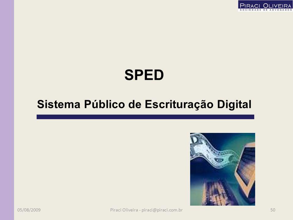 REFIS – 2000 PAES – 2003 PAEX – 2006 PAES Crise – 2009 Até 2012!!! Agendem próximo seminário!! 05/08/200949Piraci Oliveira - piraci@piraci.com.br 2 –
