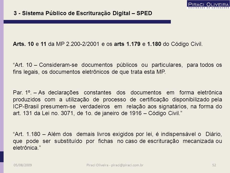 3 - Sistema Público de Escrituração Digital – SPED Princípio Constitucional – art.