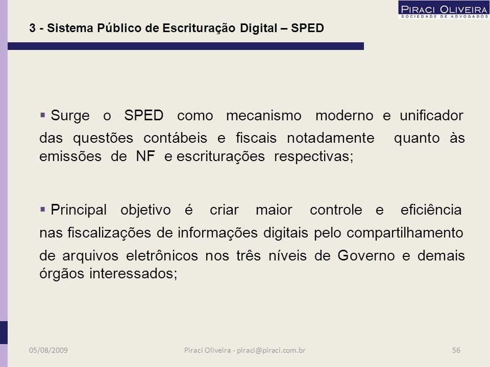 Convênio ICMS nº 143/2006, que instituiu a Escrituração Fiscal Digital (EFD); Dec. Nº 6.022/2007, instituiu o Sistema Público de Escrituração Digital