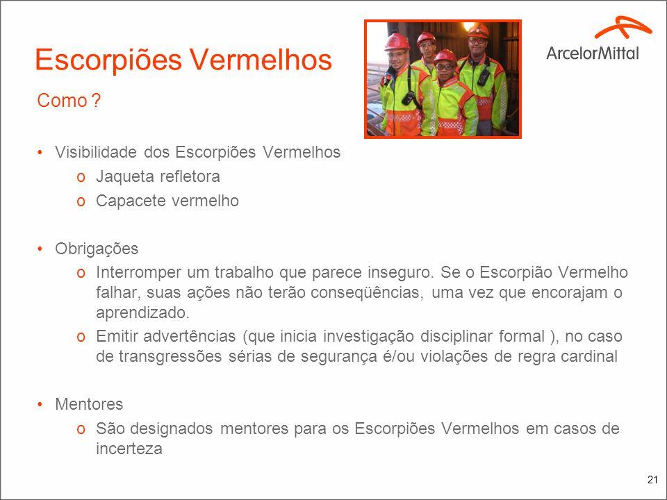 20 Escorpiões Vermelhos Por que ? Para delegar poder a empregados de todos os níveis com o conhecimento e influência requeridos para: oFalar,quando o