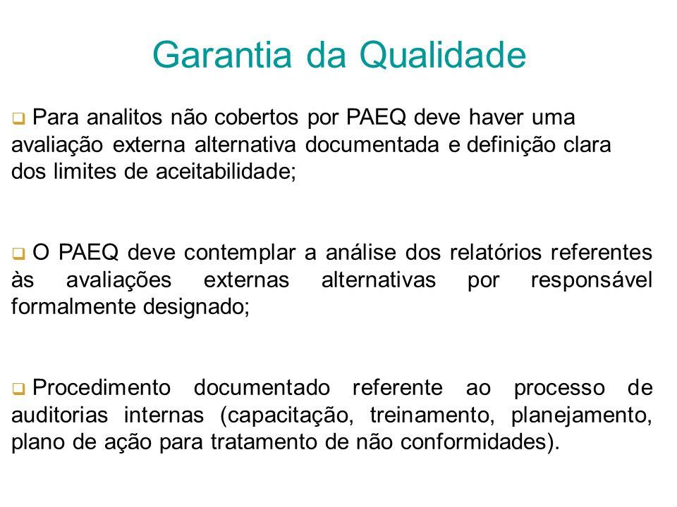 O CEQ deve contemplar procedimentos para identificação, manuseio e armazenamento dos materiais de controle externo para garantir o uso da mesma forma