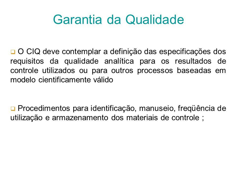 O sistema da Garantia da Qualidade deve contemplar programa documentado de garantia de avaliação regular da qualidade analítica incluindo Programa de