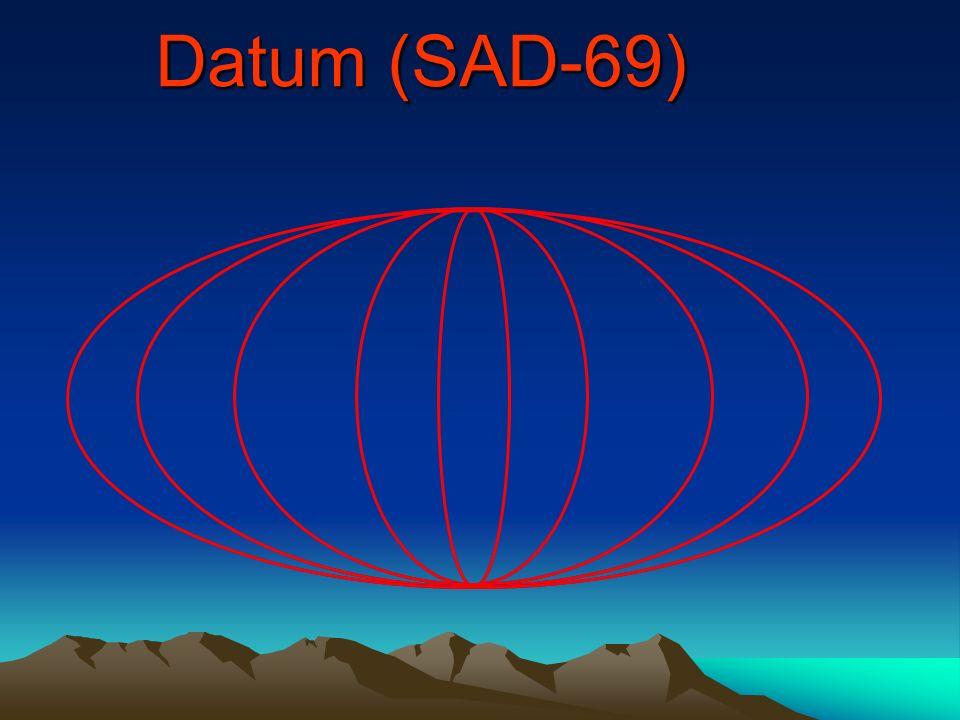 GPS Datum: WGS 84 Origem no centro de massa da terra Origem no centro de massa da terra É o datum usado como referência NAVSTAR GPS É o datum usado co