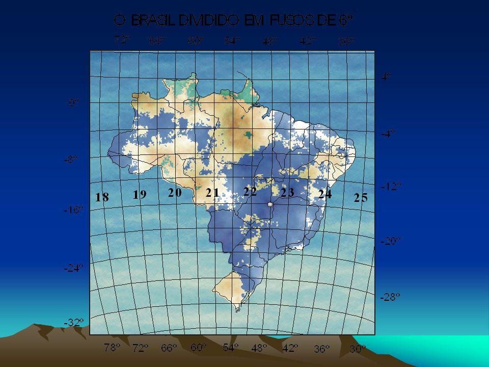 Os fusos do sistema de projeção UTM são numerados de 1 a 60 (6 o em longitude) contados a partir do antemeridiano de Greenwich no sentido anti-horário
