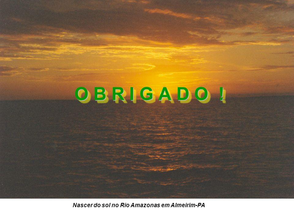 O B R I G A D O ! O B R I G A D O ! Nascer do sol no Rio Amazonas em Almeirim-PA
