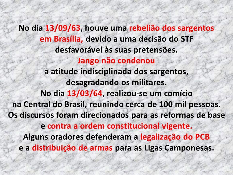 A Frente Parlamentar Nacionalista, criada por Brizola, tornou-se o núcleo revolucionário de seu governo, apoiado pelo Comando Geral dos Trabalhadores