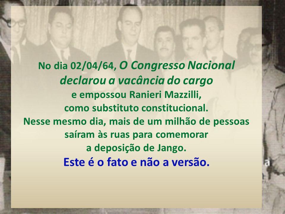 Os Generais Dantas Ribeiro (Ministro da Guerra), Castelo Branco e Amaury Kruel tentaram, sem êxito, convencer Jango a desmontar o seu esquema comunist