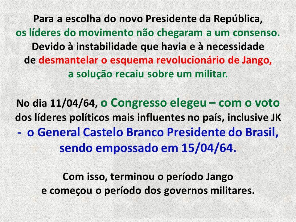 Em apenas um dia, o movimento liderado por Magalhães Pinto sagrou-se vitorioso, sem qualquer resistência significativa. Morreram apenas três pessoas.