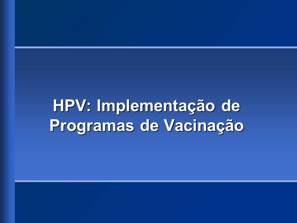 HPV: Implementação de Programas de Vacinação