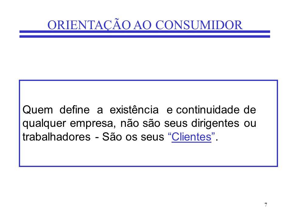 8 ORIENTAÇÃO AO CONSUMIDOR Por que se perdem clientes.