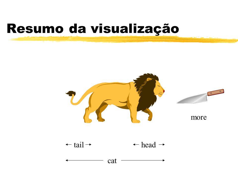Resumo da visualização headtail cat more