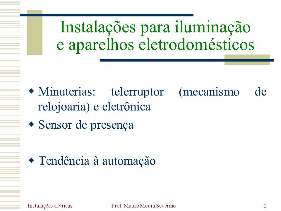 Instalações elétricas Prof. Mauro Moura Severino53